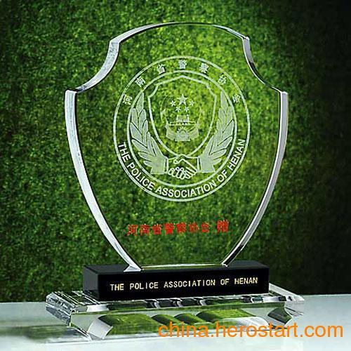 供应长沙老兵退伍水晶纪念品-水晶三件套 奖杯奖牌徽章