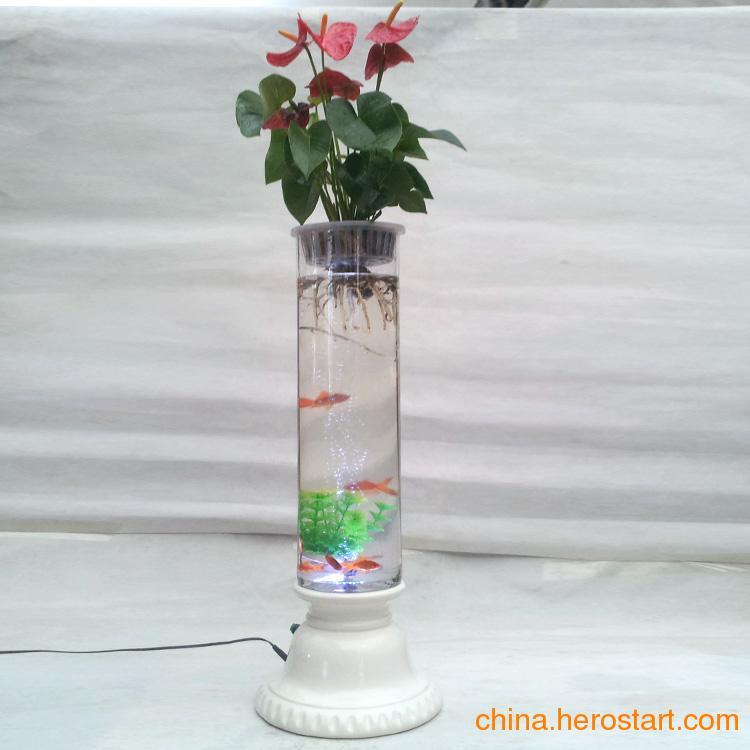 供应充氧花瓶 电子灯光花瓶 水培花卉花瓶 无土栽培花瓶 花瓶批发