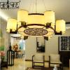 供应古香古色 新中式吊灯 客厅灯 餐厅灯 仿古6头大吊灯羊皮灯