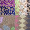 供应彩色格子印花PVC木纹条纹PU后段印刷PVC革印刷皮革