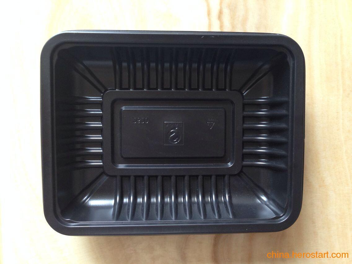 供应广州厂家定做一次性生鲜托盘 PP一次性塑料生鲜托盘 SGS认证