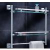 供应太空铝玻璃置物架-单层双层玻璃置物架-迪龙雅不锈钢厂