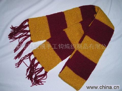 手工土布机织围巾