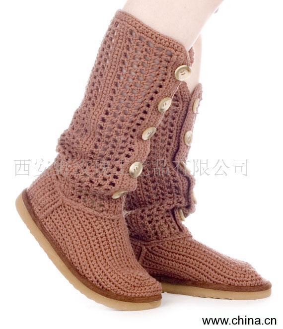 供应毛线靴加工