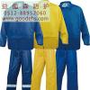 供应苏州劳保用品 E407003-4 防护服雨衣 套装PC内涂层 涤纶分体雨衣 雨衣