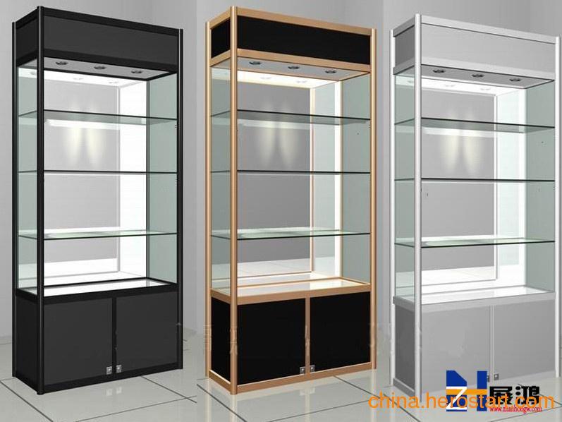 供应 直销槽板展示柜,钛合金展示柜展示效果