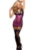 现货供应欧美大码性感蕾丝透视套装诱惑成人女式情趣内衣Q-170
