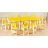 供应高档幼儿园实木桌椅批发|幼儿园实木桌椅|太阳幼教