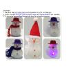 供应圣诞雪人装饰带LED闪灯圣诞树装饰