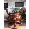 供应铜铁圆形香炉,圆形平口香炉图,浙江香炉厂家