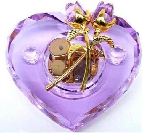 供应水晶音乐盒,求爱,结婚,道歉学生礼品