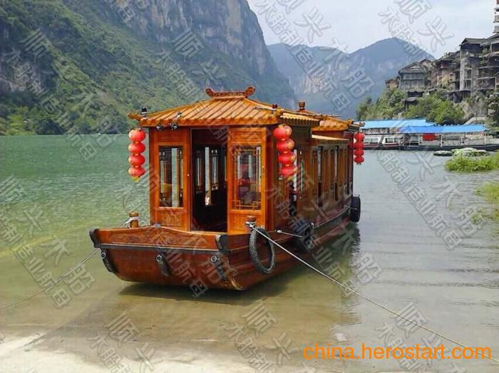 供应特价新品 画舫船 画舫木船 旅游观光餐饮船 景区园林农庄专用木船