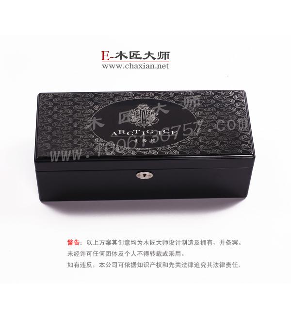 供应钢琴漆红酒礼品木盒子