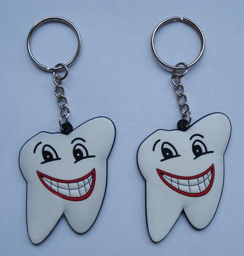 供应牙齿钥匙扣 广告礼品钥匙扣 PVC钥匙扣