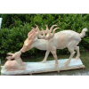曲阳石雕厂家供应景观雕塑 动物石雕 园林小品 石雕园林装饰摆件