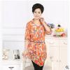 供应时尚大码中老年女装 韩版雪纺中袖V领时尚中年妈妈装T恤