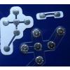 供应带垫片的OTP动态令牌锅仔片按键