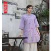 供应木棉道春装新款女唐装中式改良汉服 棉麻民族风手绘上衣18294