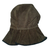供应欧博瑞碳咖色牛皮全护式焊帽