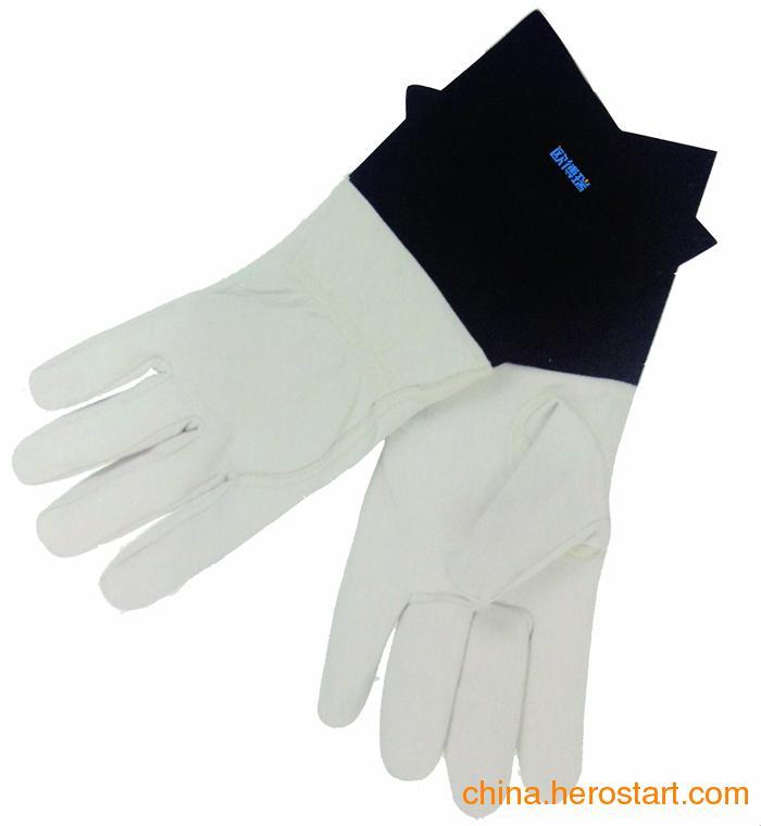 供应欧博瑞电焊手套 耐高温牛皮手套 耐磨隔热手套