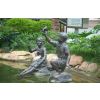 供应不锈钢景观人物雕塑,广场园林雕塑