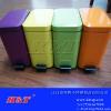 供应多色喷色不锈钢方形脚踏垃圾桶/垃圾箱/果皮箱