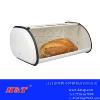 供应简约白色不锈钢面包箱/食品箱/置物箱