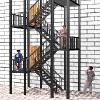 消防钢楼梯哪家好[供应]济南热销济南消防铁楼梯价格公司哪家好