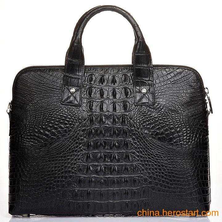 供应商务男包 斜挎单肩包 鳄鱼皮具手提包