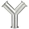 供应304卫生级快装Y型三通/镜面三通/快装三通/需定制/不锈钢管件