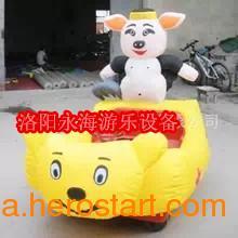 供应充气猪八戒儿童电瓶车