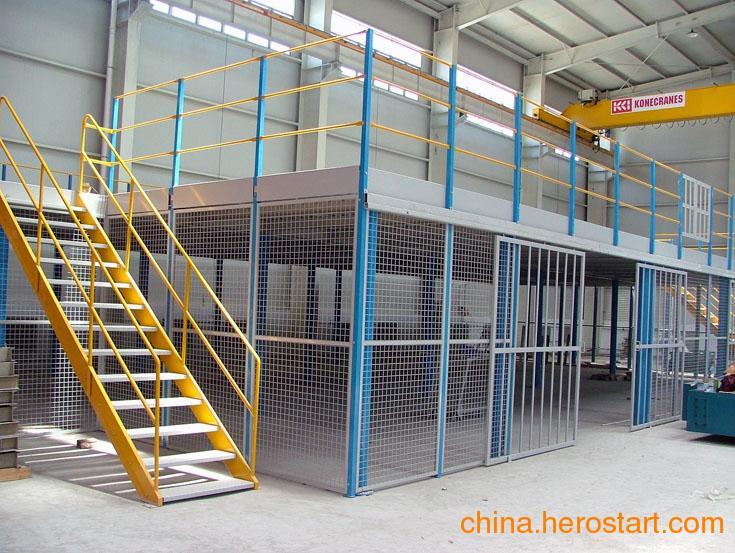 供应钢平台阁楼货架