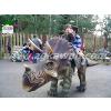 供应游乐园设备 乘骑恐龙 行走三角龙