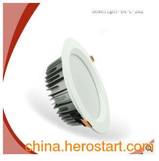 供应4寸LED筒灯配件外壳亚白色压铸铝套件