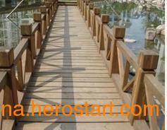 供应供甘肃定西防腐木亲水平台和天水防腐木木桥