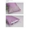 供应芸祥绣品 绣花靠垫 灰紫色靠垫 含芯靠垫