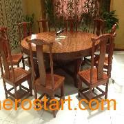 想要受欢迎的巴花大板现货特价实木大板桌茶艺桌,就找森欣红木——凭祥广西凭祥红木家具