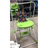 供应厂家一站式批发直销儿童多功能可折叠秋千BB凳便携式宝宝餐椅加大加宽一体三用款