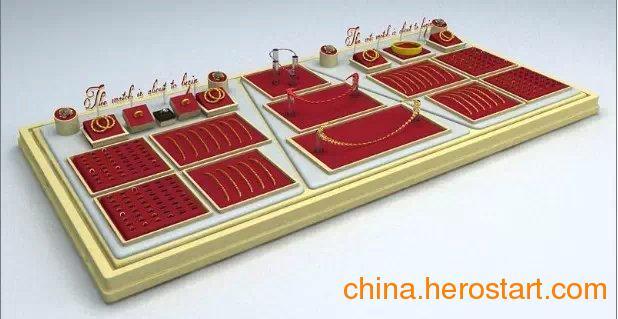 供应黄金展示道具,高档,精致红绒黄金展示托盘