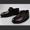 供应-崇姿深棕色休闲/真皮牛皮/透气舒适健康男鞋