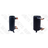 供应华弘制冷配件热泵套管换热器高效罐 热泵空调高效套管换热器B型(不带储液)