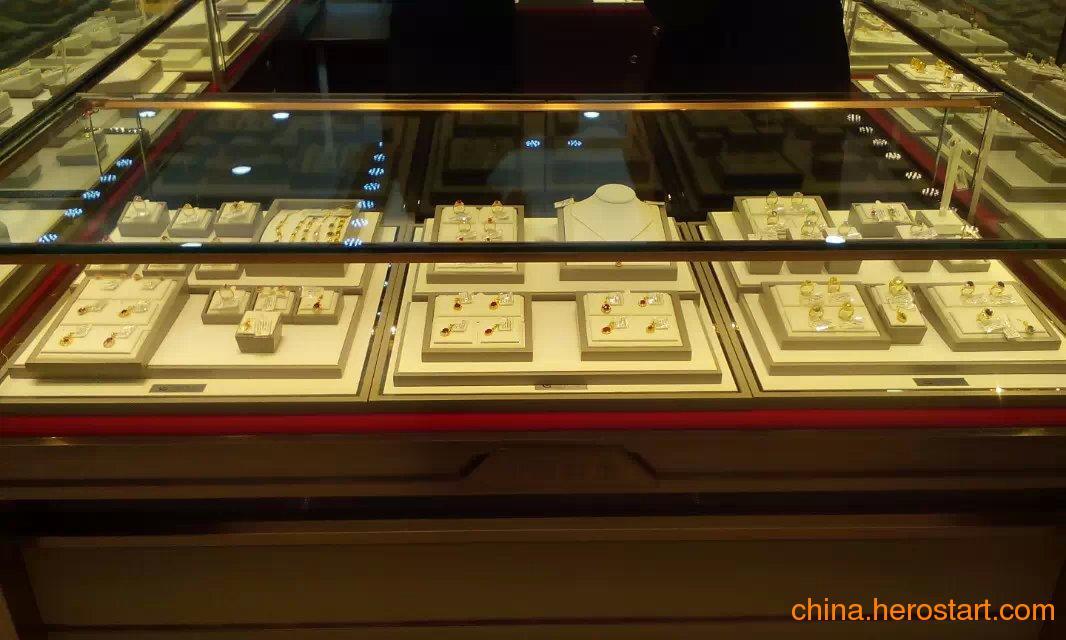 供应金镶玉珠宝展示道具,1200*520,皮料,首饰包装厂家