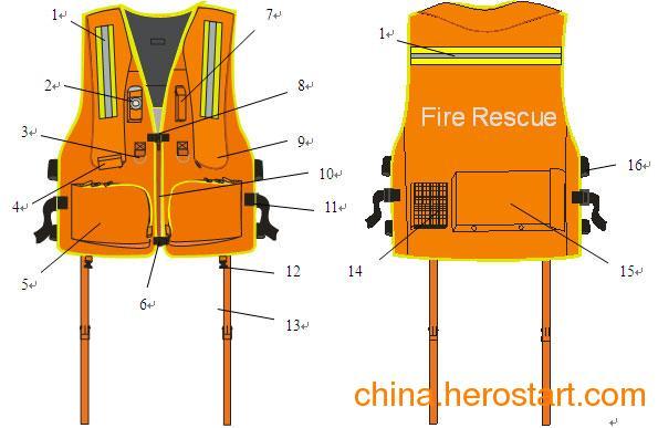 供应充气式消防救生衣  消防救援特种救生衣  舒适安全救生衣