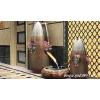 供应传统文化艺术花瓶|青花山水图案景德镇陶瓷艺术花瓶
