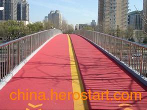 供应新疆彩色防滑路面 防滑路面 彩色路面 彩色防滑路面