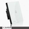 供应坦泰科家居 无线穿墙墙壁开关 智能触摸遥控与RM2,遥控宝实现手机控制