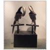 供应制作酒店摆件雕塑动物雕塑 鹦鹉玻璃钢仿铜雕塑