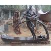 供应景观园林雕塑 城市运动会标志雕塑 人物玻璃钢仿铜雕塑