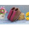 供应新款流行潮流男女低跟高帮毛线鞋加厚双层保暖孕妇月子毛线棉鞋