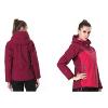 供应极星冲锋衣(塔吉) 秋冬女防水户外防风透气两件套羽绒冲锋衣